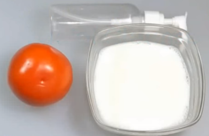 Milk and tomato juice