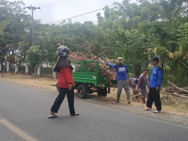 Begini Kondisi Motor Sampah Biru Setelah Sampai di Kelurahan