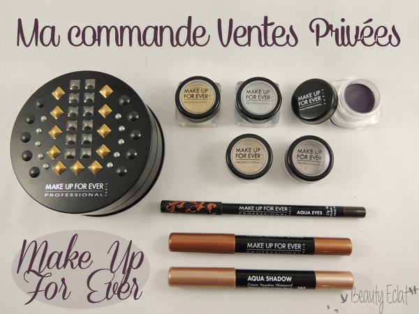 commande vente privee make up for ever