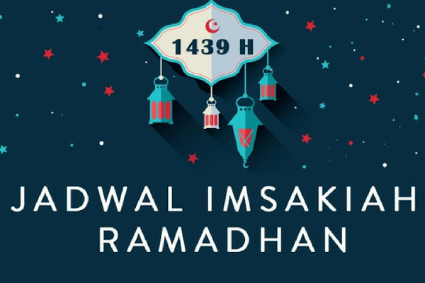 Jadwal Imsakiyah Ramadhan 1439 H/ 2018 Wilayah Banjarmasin