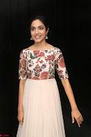 Ritu Varma smiling face Cream Anarkali dress at launch of OPPO New Selfie Camera F3 ~  Exclusive 025.JPG