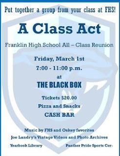 Franklin High School All-Class Reunion - March 1