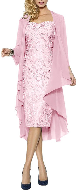Short Pink Mother of The Groom Dresses
