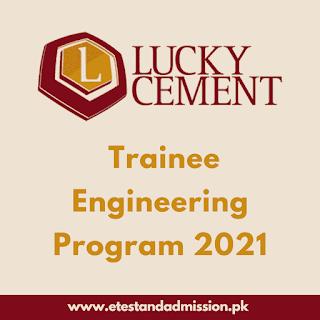 Lucky Cement Trainee Engineering Program 2021