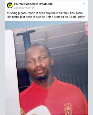 [Photo]Man Who Was Declared Missing In Lagos, Found Locked Up In Police Cell And Allegedly Denied Permission To Contact His Family