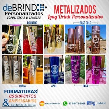 →  COPOS METALIZADOS E PERSONALIZADOS | METALIZADO LONG DRINK PRATA ROSE AZUL DOURADO