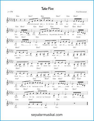 Take Five chords jazz standar