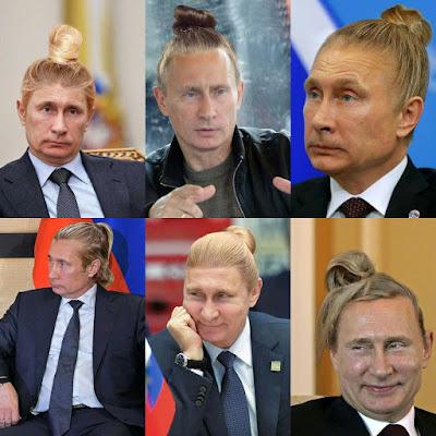 Funny Putin Man Bun Joke Picture