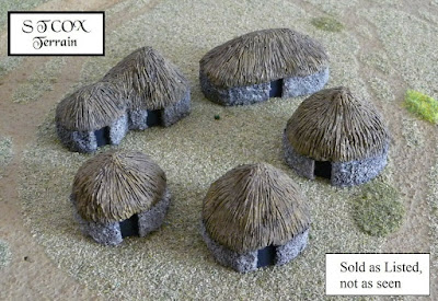 Starter Village - 10mm  South African Colonial Huts (SACH01-05) picture 1