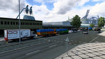 Mod Traffic Indo Bus dan Truck ETS2 1.41 Convoy