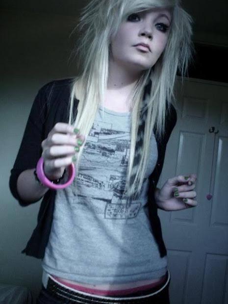 adriana lima beauty long emo hairstyle