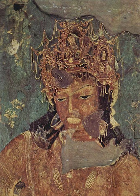 Painting of Vajrapani  -  - Ajanta caves - Ancient Buddhist Monestry - Maharashtra India -  - Pick, Pack, Go