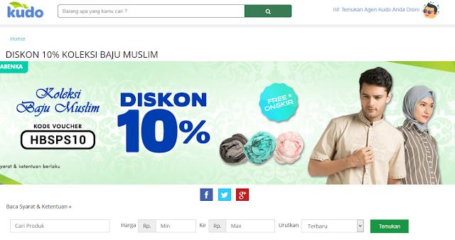 Kudo tawarkan toko baju online terpercaya