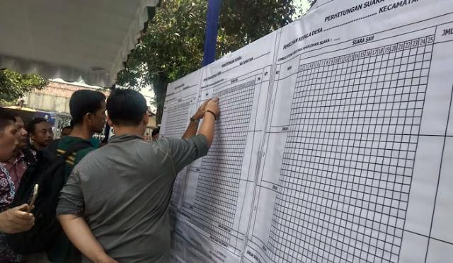 Simulasi Pilkades Serentak di Kantor DPMD Lumajang