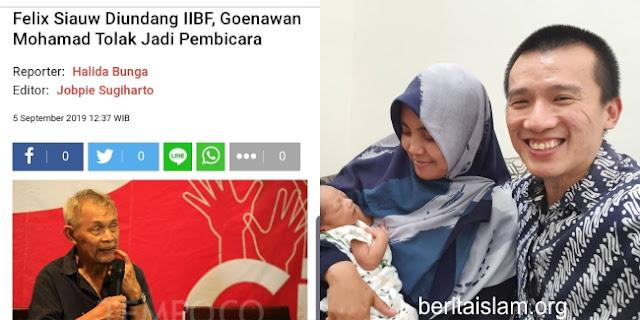 Ustadz Felix Siauw Goenawan Muhammad