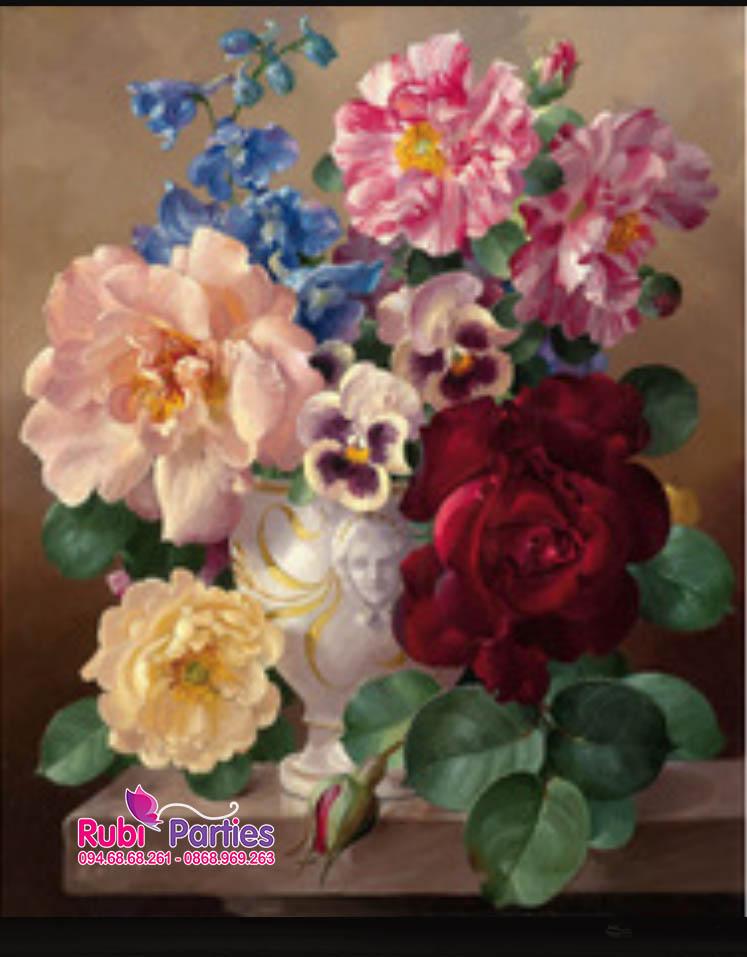 Tranh son dau so hoa tai Ly Thai To