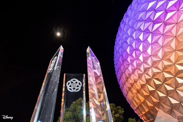 New Pylons Arrived to EPCOT Main Entrance Plaza August 2020, WDW, Disney Parks, Walt Disney World Resort