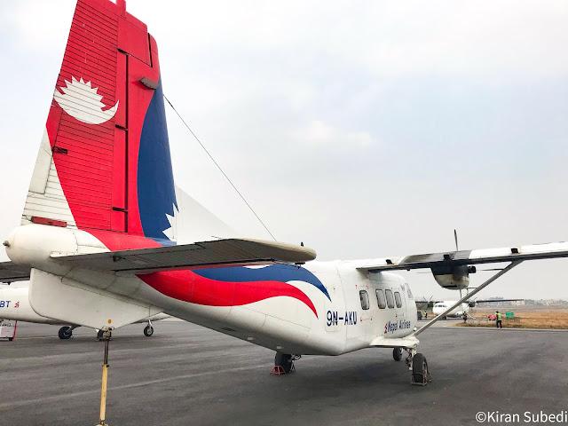 Nepal airlines 9N-AKU at parking y12e aircraft