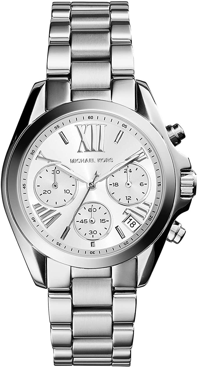 Michael Kors Mini Bradshaw Stainless Steel 36mm Chronograph Watch