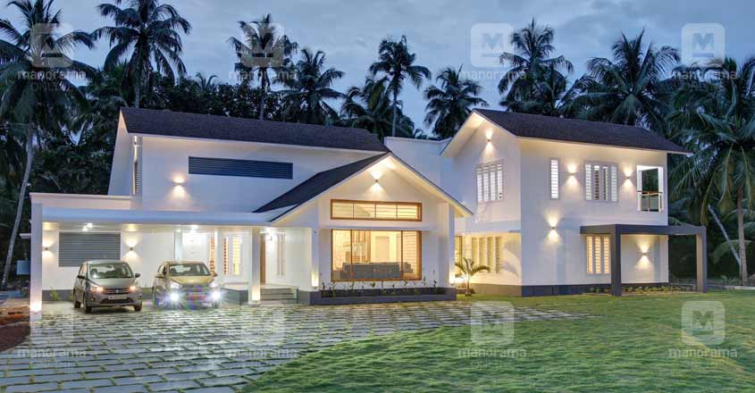 4 Bedroom Luxury Colonial Mixed Home Design With Free Home Plan Free Kerala Home Plans
