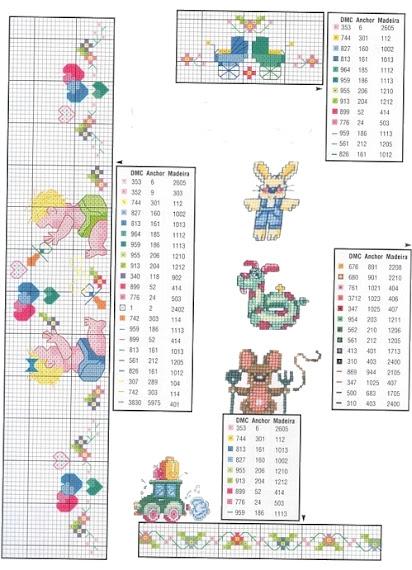 schemi a punto croce facili per bambini e neonati