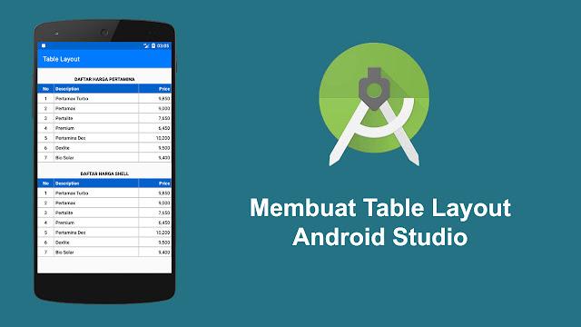 Membuat Table Layout pada Android Studio