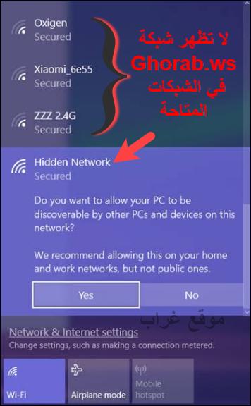 Hidden WiFi Networks