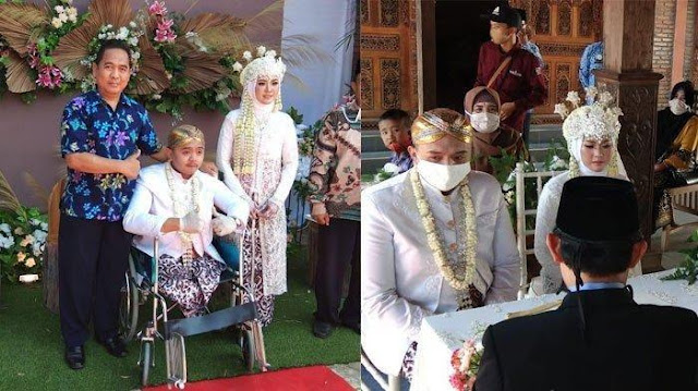 Viral Perjuangan Pria Difabel Menikahi Gadis Cantik di Batang, Sempat Ditolak dan Berakhir Bahagia