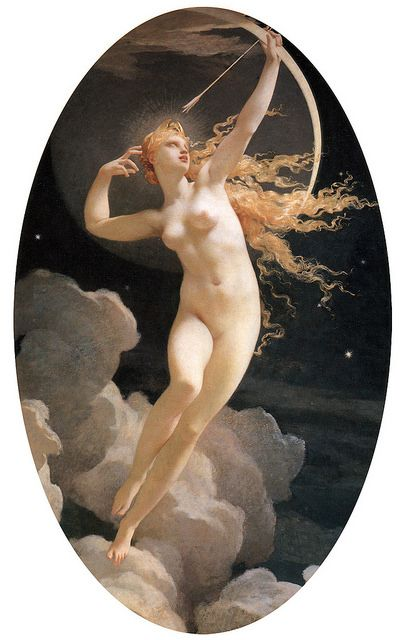 Selene Titan Moon Goddess Jules Louis Machard 1874