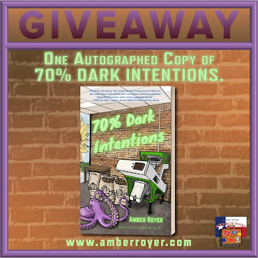 70% Dark Intentions tour giveaway graphic. Prizes to be awarded precede this image in the post text.