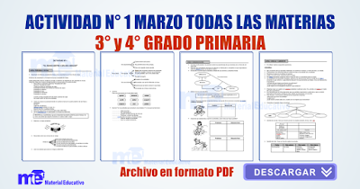 Actividad N° 1 marzo todas las materias 3° y 4° grado primaria