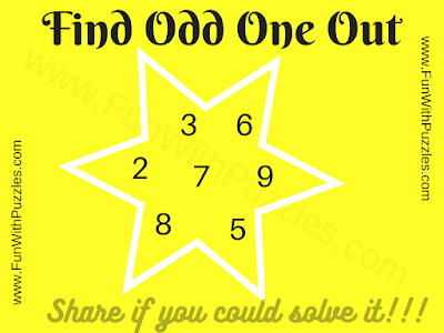Find the Odd One Out? 2 3 6 7 5 8 9