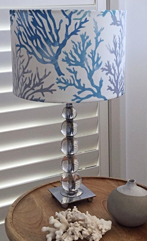 Coral Reef Branch Fabric Lampshade Design