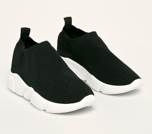 Answear - Pantofi sport femei negri fara sireturi de vara la reducere