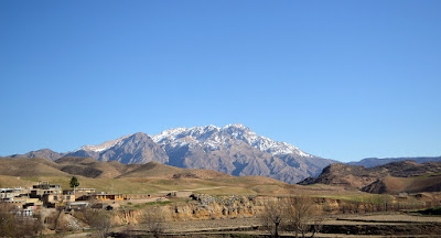 Dena with sharp peaks and steep slopes is the highest mountain in the range of western Zagros Mountains