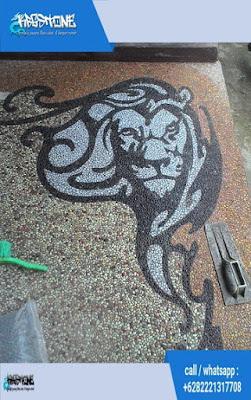 batu sikat motif singa