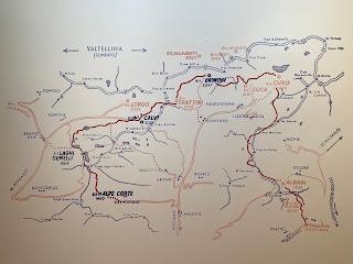 First half of the Sentiero delle Orobie, map - Tito Terzi Exhibit