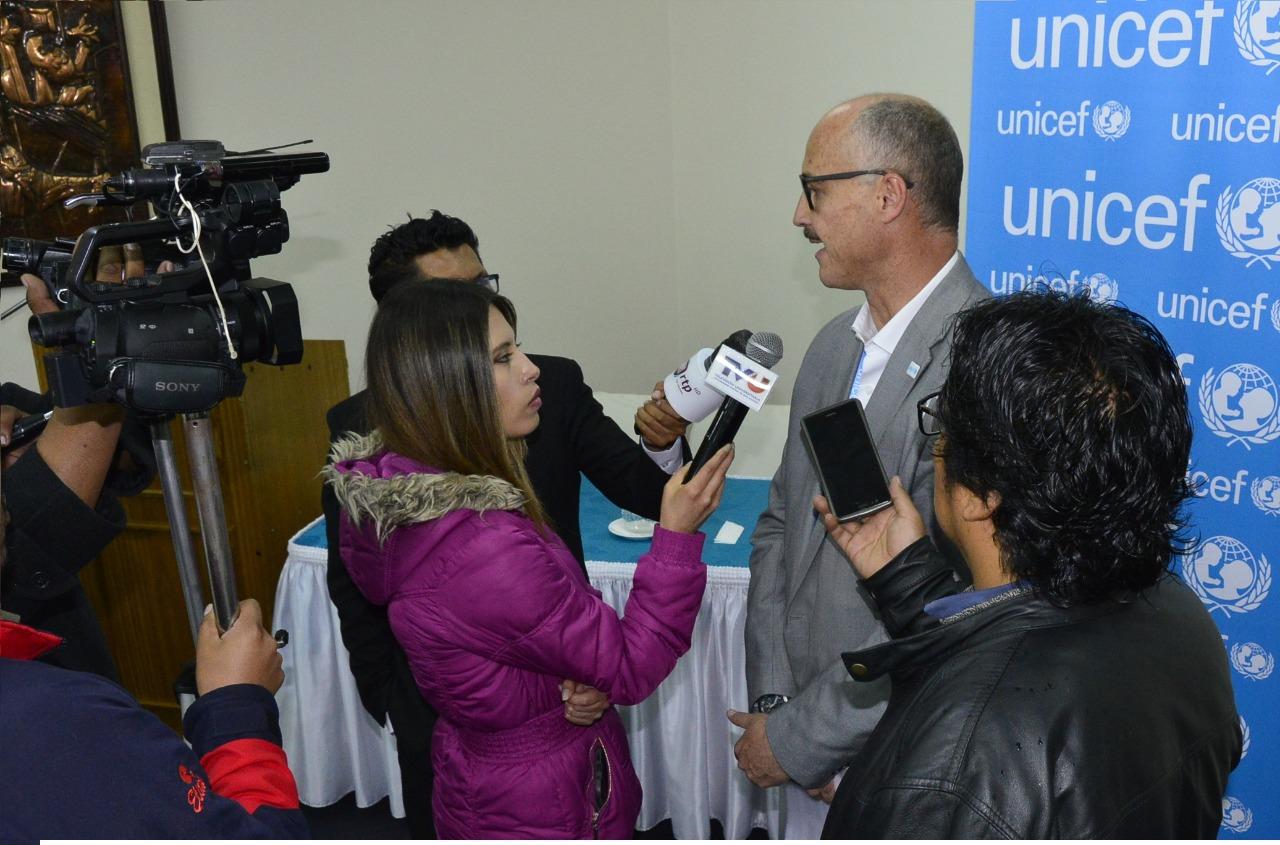 Rafael Ramírez. representante de UNICEF en Bolivia / PRENSA UNICEF