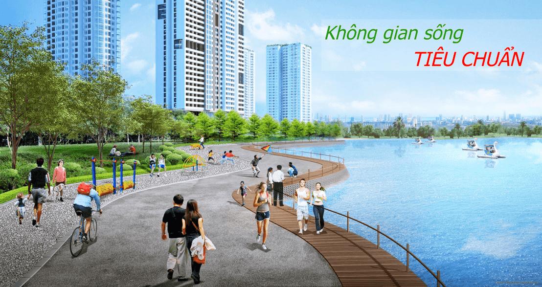 Không gian sống xanh tiêu chuẩn tại dự án chung cư Rose Town