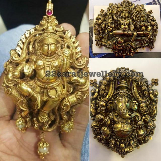 Ganesh Pendants Temple Jewelry