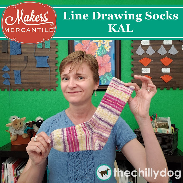 Line Drawing Socks KAL hosted by Makers' Mercantile and The Chilly Dog