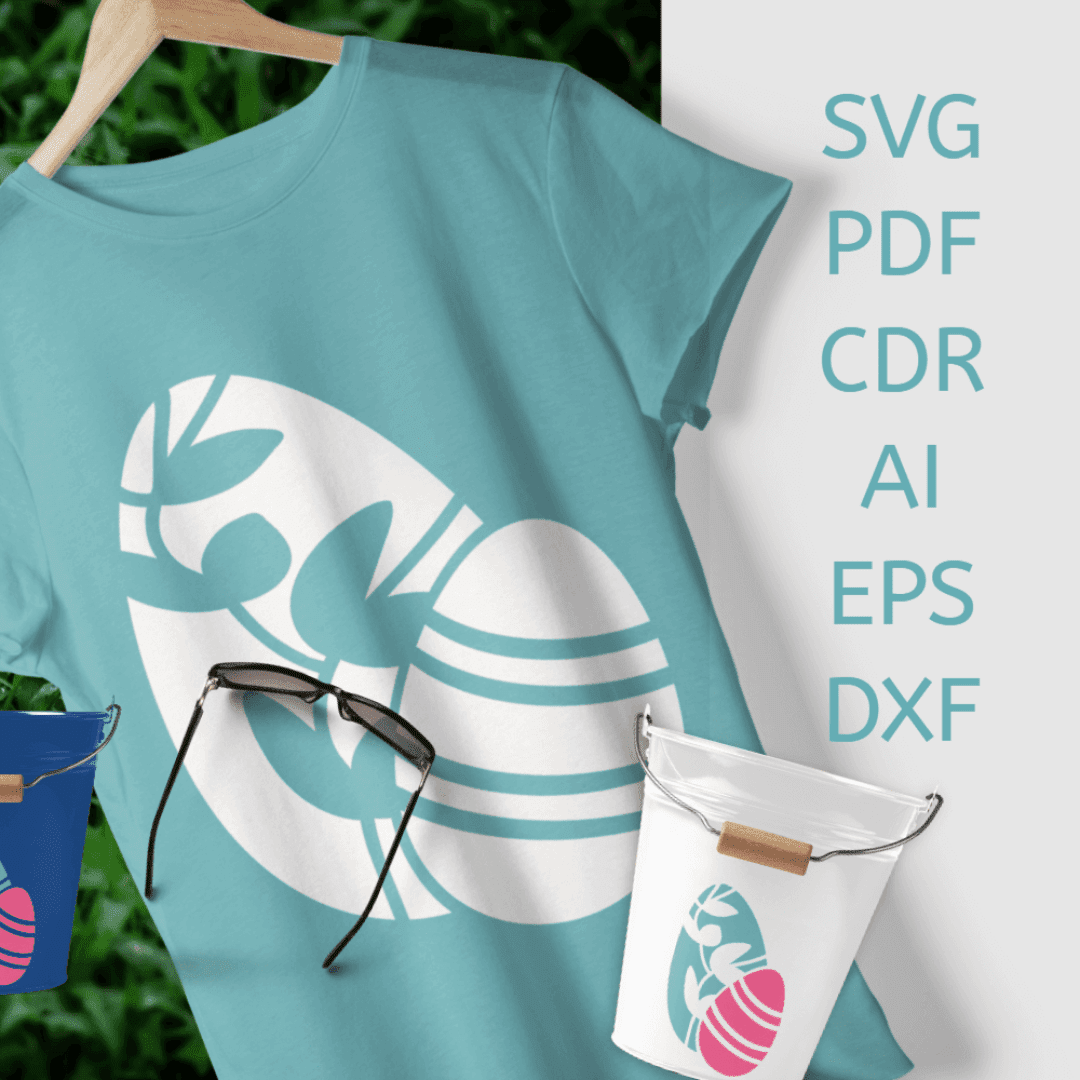 SVG Easter Eggs Flourish and Stripes