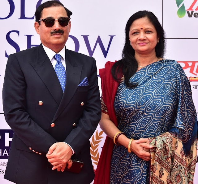 Mr. K.K Sharma, DG, BSF with Wife Renu Sharma