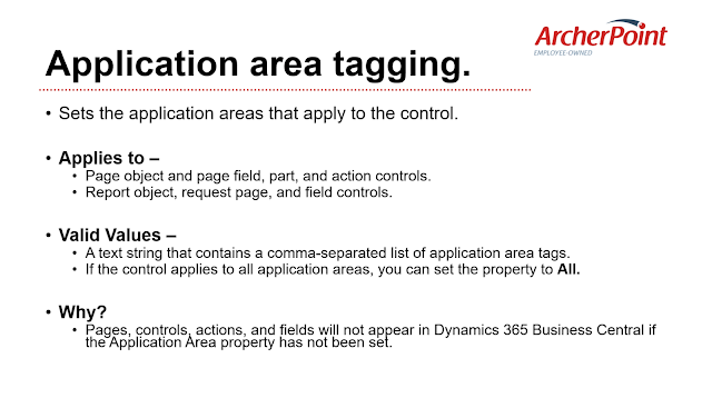 Application Area Tagging