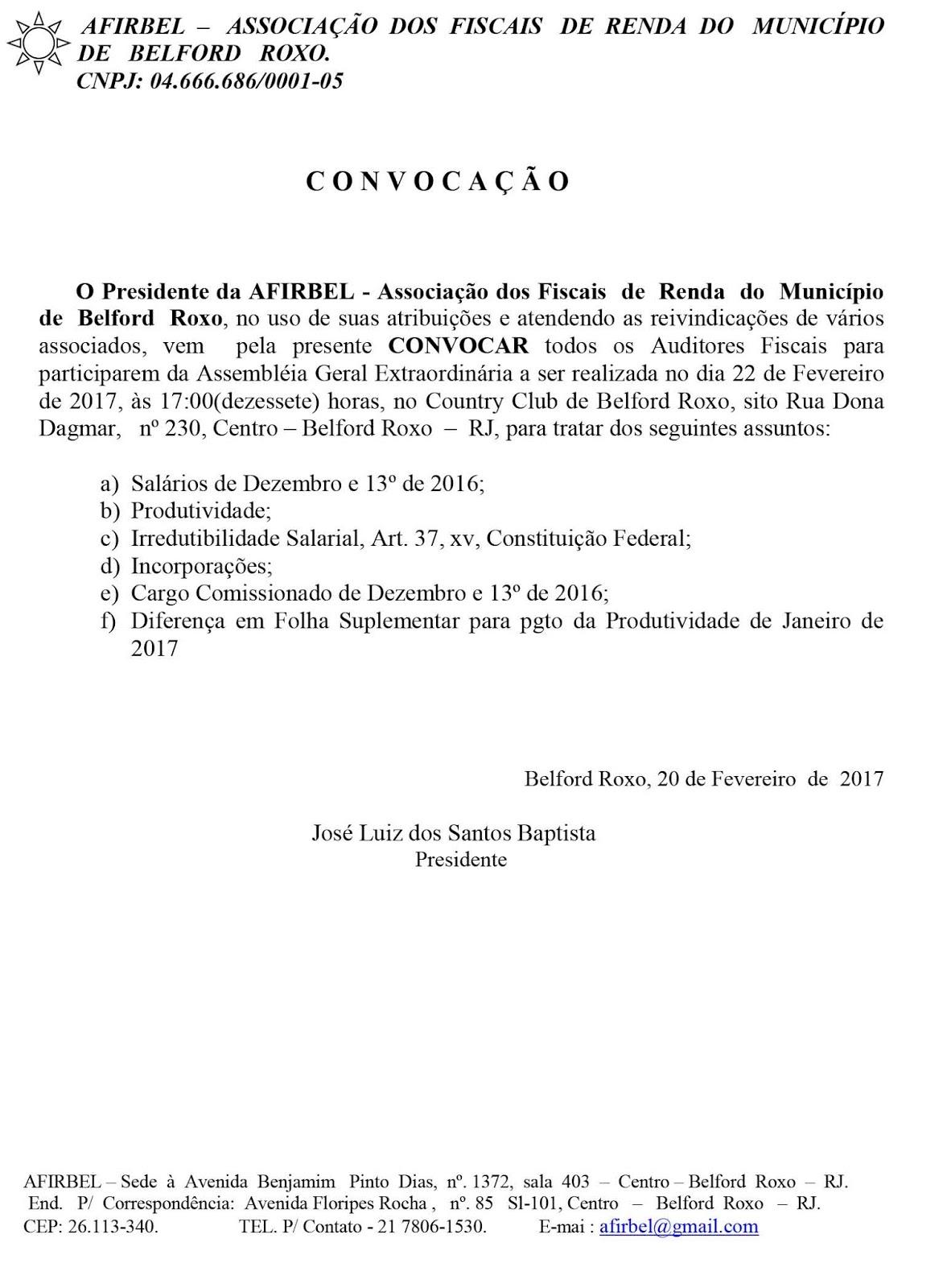 f155bbd6a EDITAL DE CONVOCAÇÃO PARA ASSEMBLEIA GERAL EXTRAORDINÁRIA DA ASSOCIAÇÃO DOS  FISCAIS DE RENDA DO MUNICÍPIO DE BELFORD ROXO