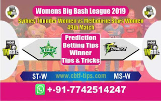 Who will win Today WBBL 2019, 49th Match Star vs Thunder - Cricfrog