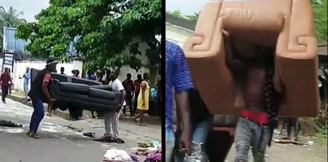 (Kalli Bidiyo):Yanda Matasa suka ƙona gidan sanata a Nigeria Suka kwashe kayayyaki masu muhimmanci