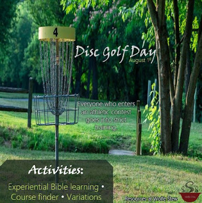 Biblical experiential learning idea, disc golf course finder and variations.
