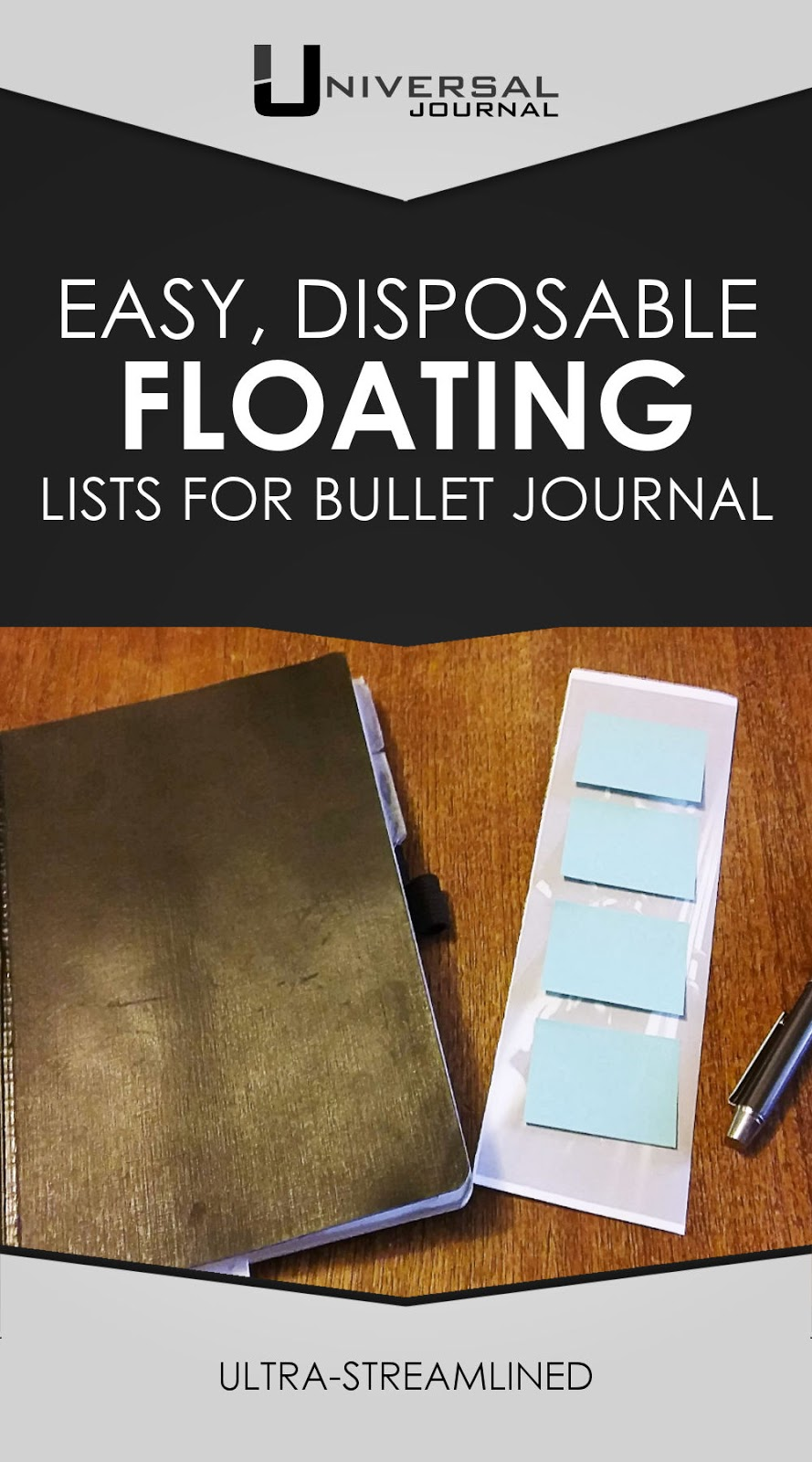 easy disposable floating lists for bullet journal