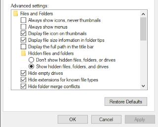 Mengembalikan File dengan Hidden Folder